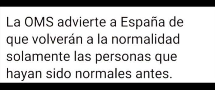 normalidad oms